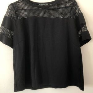 Forever 21 Netted Black Top